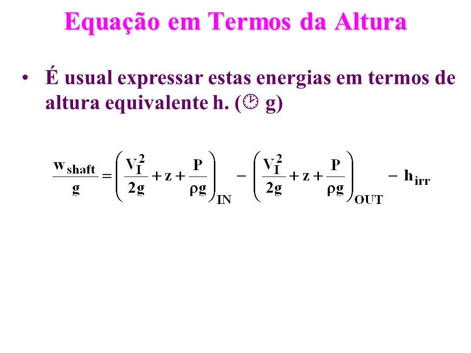 Equação em Termos da Altura