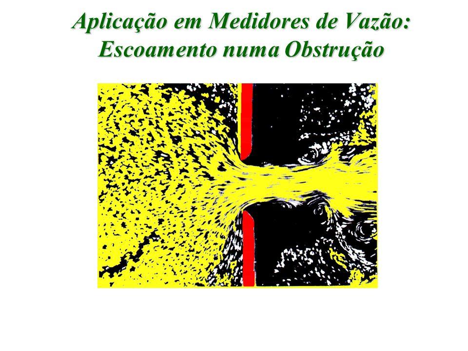 Aplicação em Medidores de Vazão: Escoamento numa Obstrução