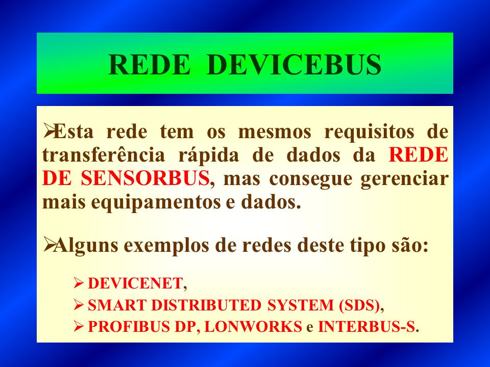 REDE DEVICEBUS