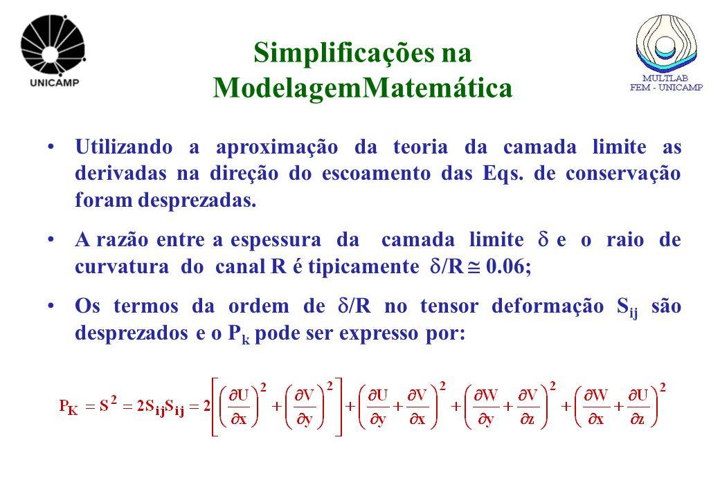 Simplificações na ModelagemMatemática