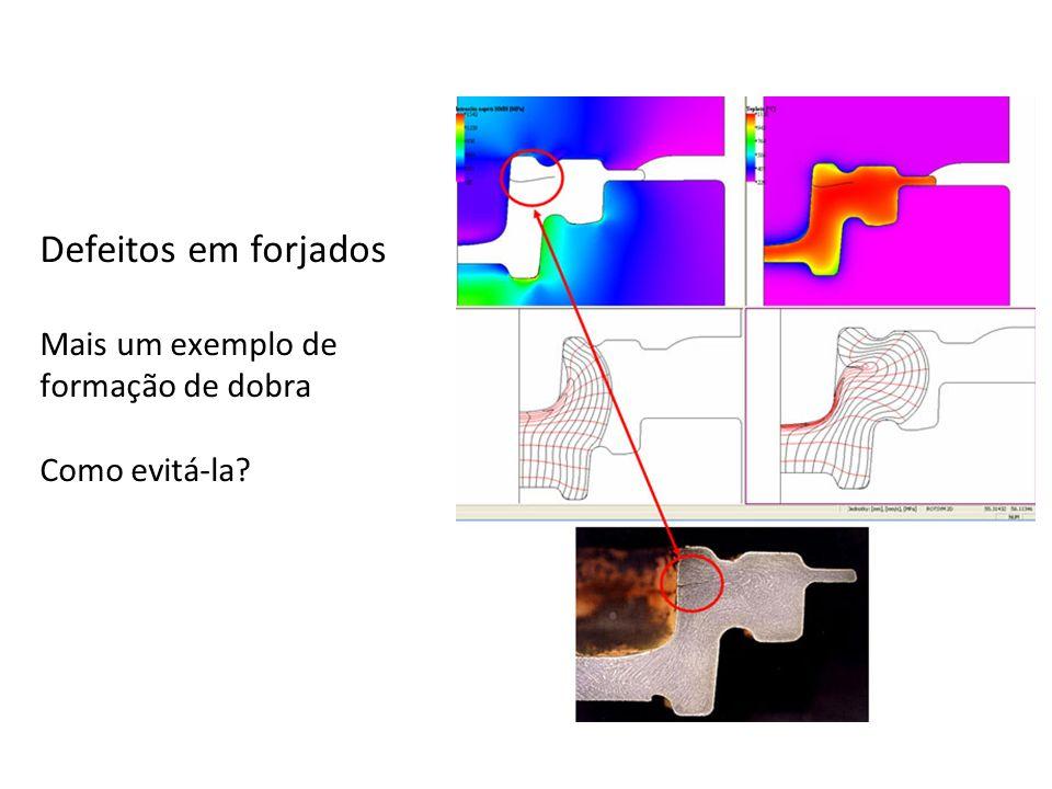Defeitos em forjados Mais um exemplo de formação de dobra Como evitá-la