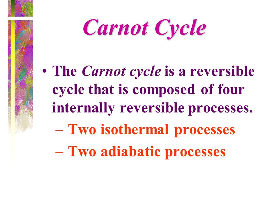 Carnot CycleThe Carnot cycle is a reversible cycle that is composed of four internally reversible processes.