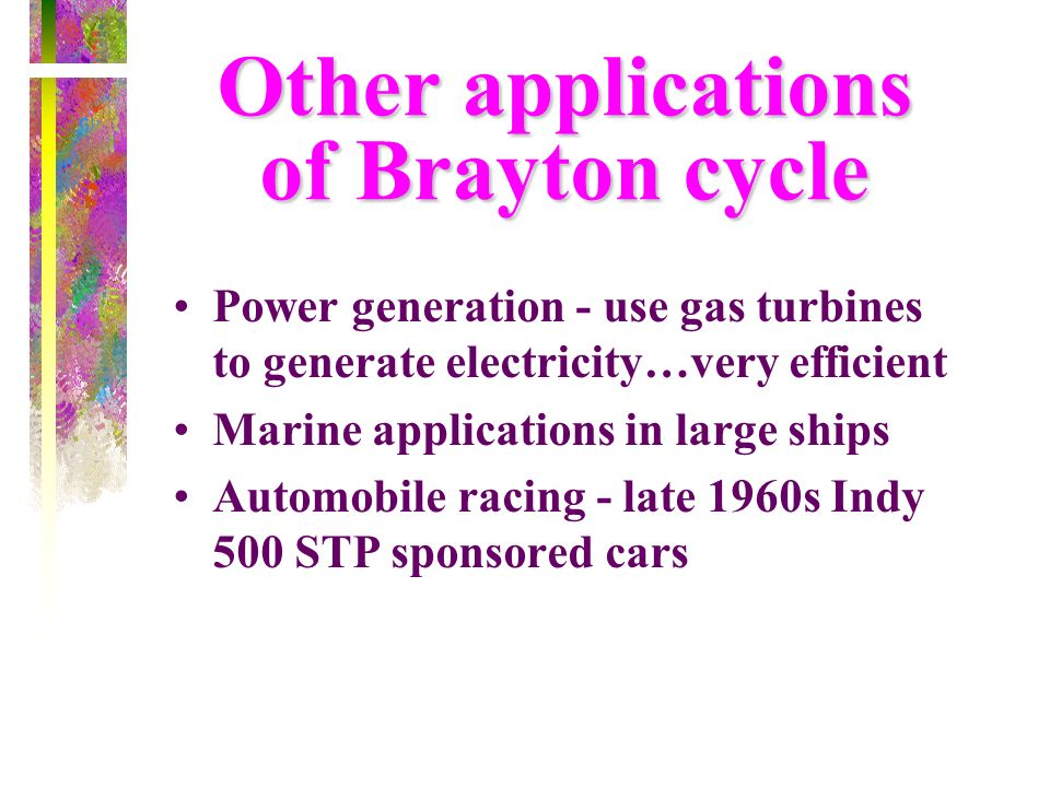 Other applications of Brayton cycle