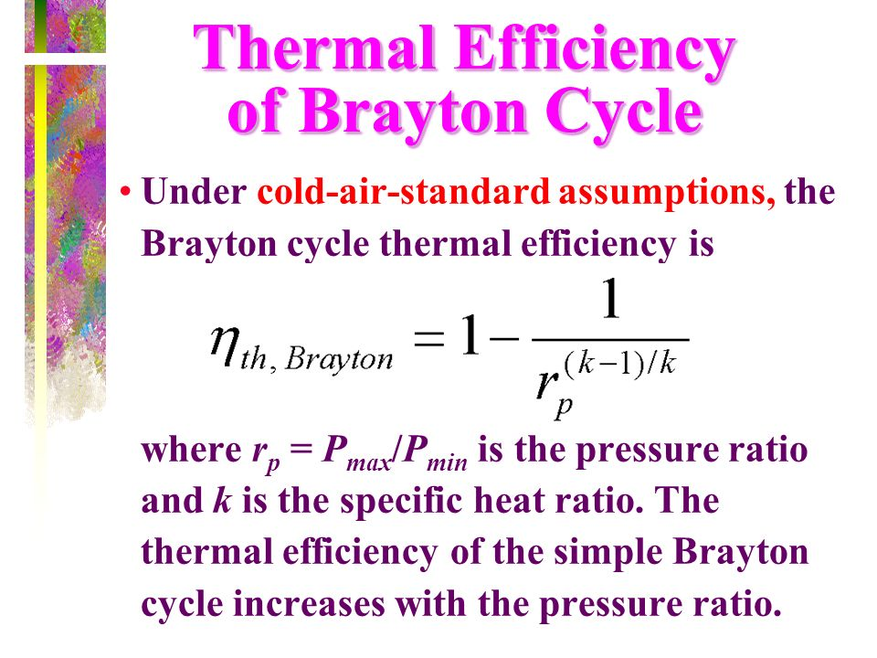 Thermal Efficiency of Brayton Cycle