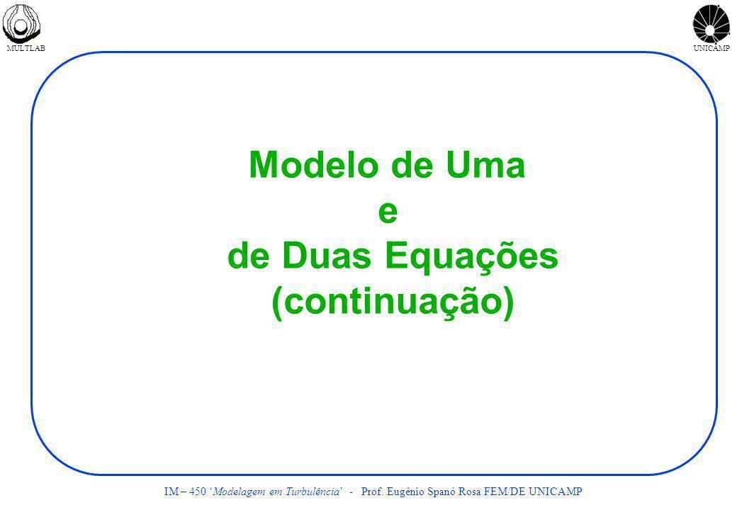 Modelo de Uma e de Duas Equações (continuação)