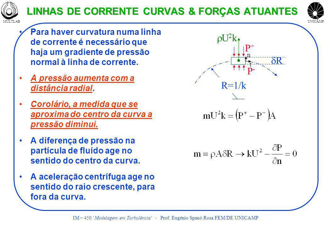 LINHAS DE CORRENTE CURVAS & FORÇAS ATUANTES