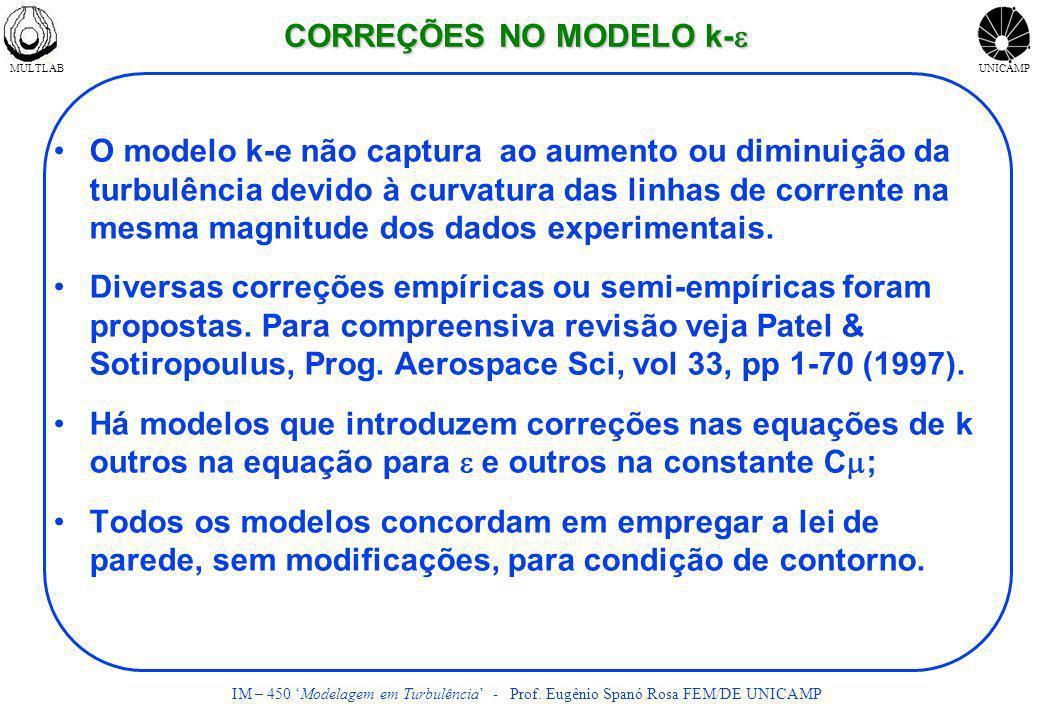 CORREÇÕES NO MODELO k-e
