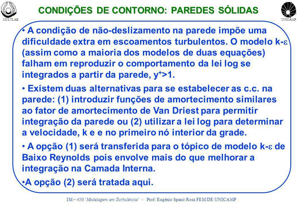 CONDIÇÕES DE CONTORNO: PAREDES SÓLIDAS