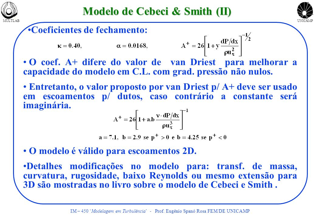 Modelo de Cebeci & Smith (II)