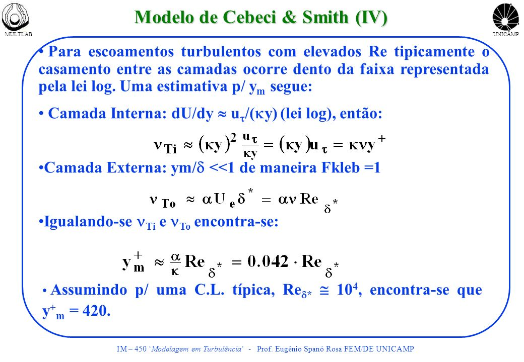 Modelo de Cebeci & Smith (IV)
