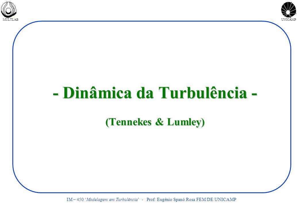 - Dinâmica da Turbulência - (Tennekes & Lumley)