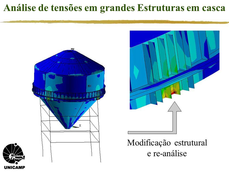 Análise de tensões em grandes Estruturas em casca