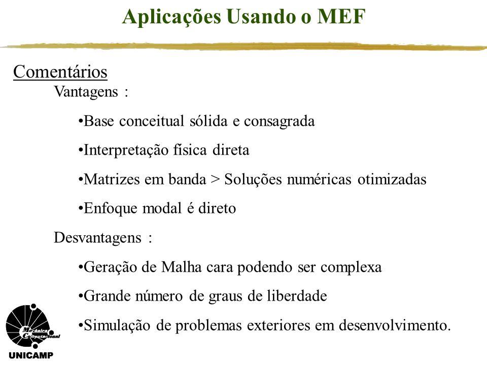 Aplicações Usando o MEF