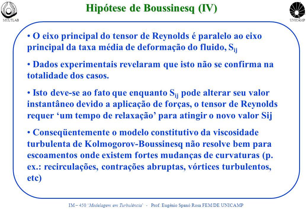 Hipótese de Boussinesq (IV)