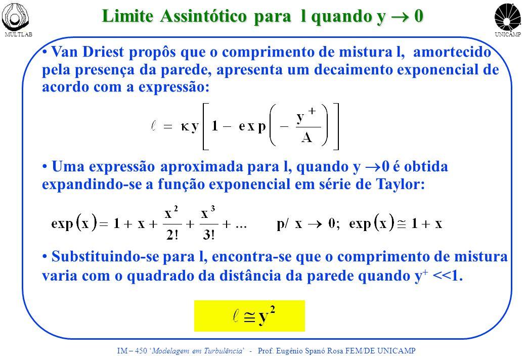 Limite Assintótico para l quando y  0