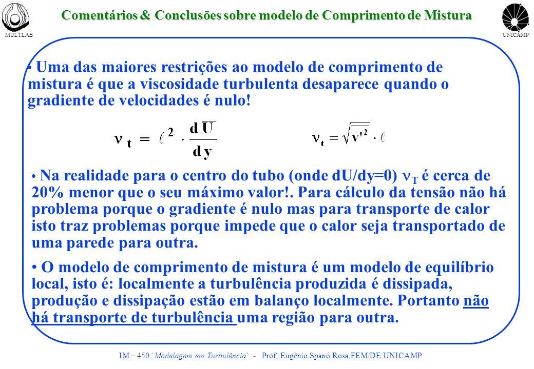 Comentários & Conclusões sobre modelo de Comprimento de Mistura