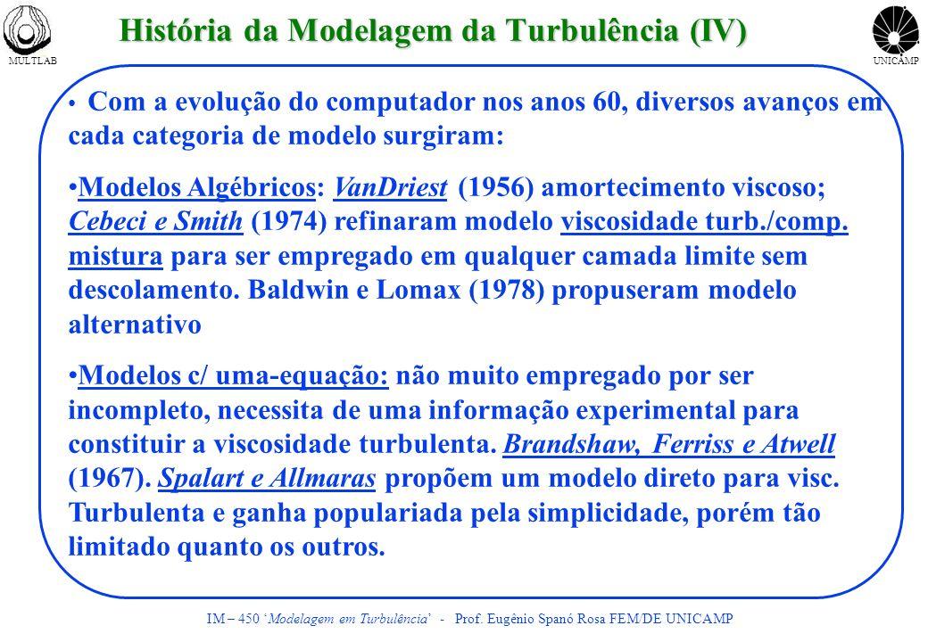 História da Modelagem da Turbulência (IV)