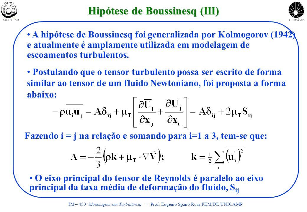 Hipótese de Boussinesq (III)