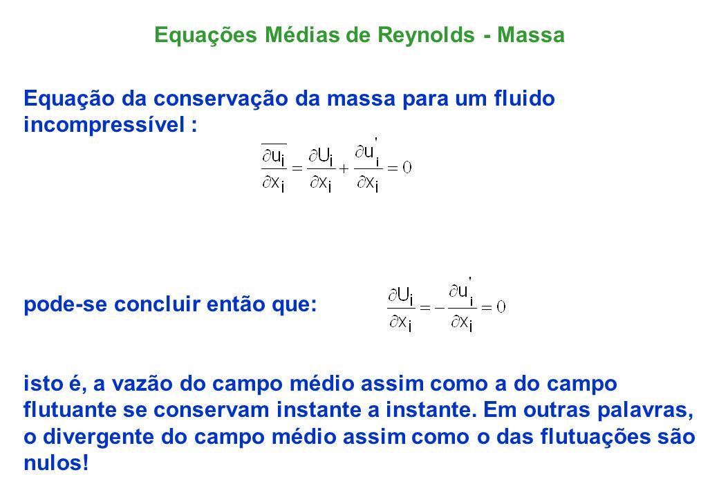 Equações Médias de Reynolds - Massa
