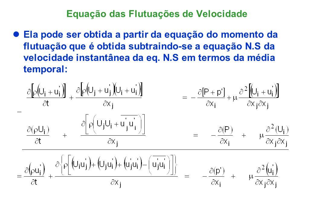 Equação das Flutuações de Velocidade
