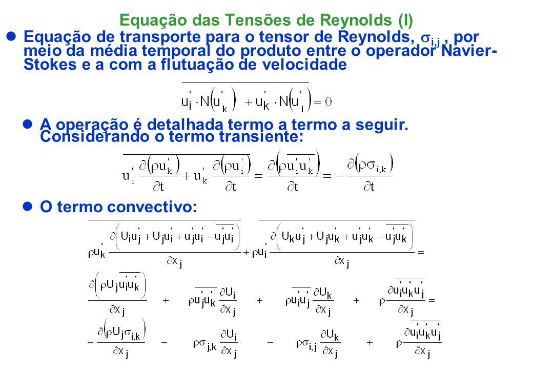 Equação das Tensões de Reynolds (I)