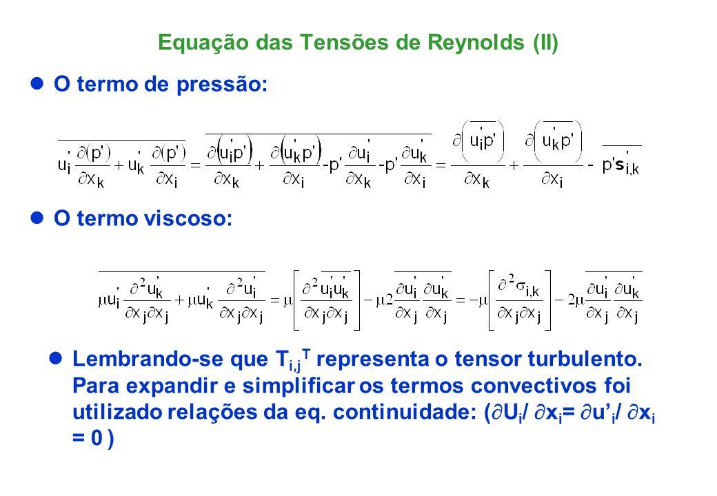 Equação das Tensões de Reynolds (II)