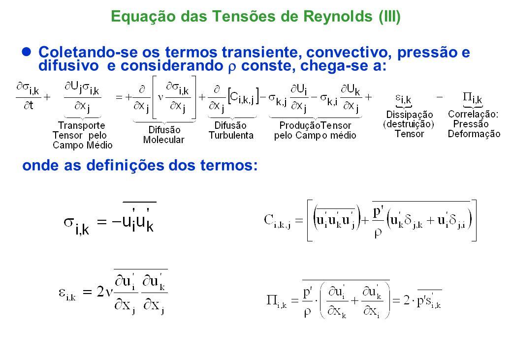 Equação das Tensões de Reynolds (III)