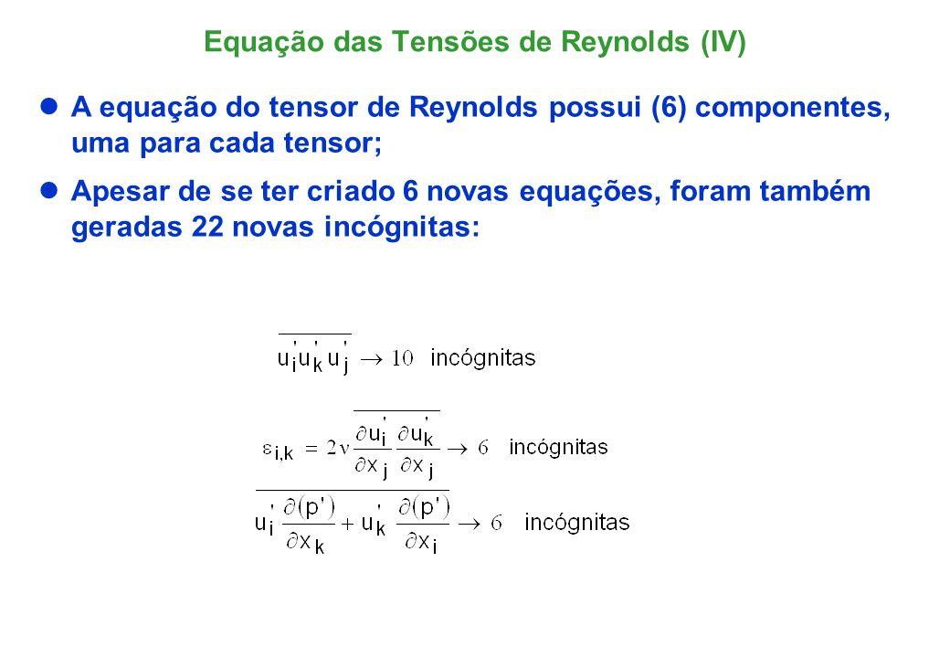 Equação das Tensões de Reynolds (IV)