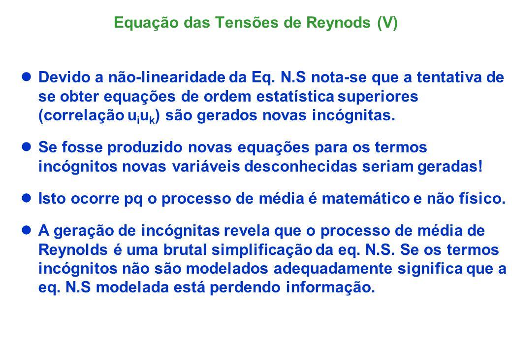 Equação das Tensões de Reynods (V)