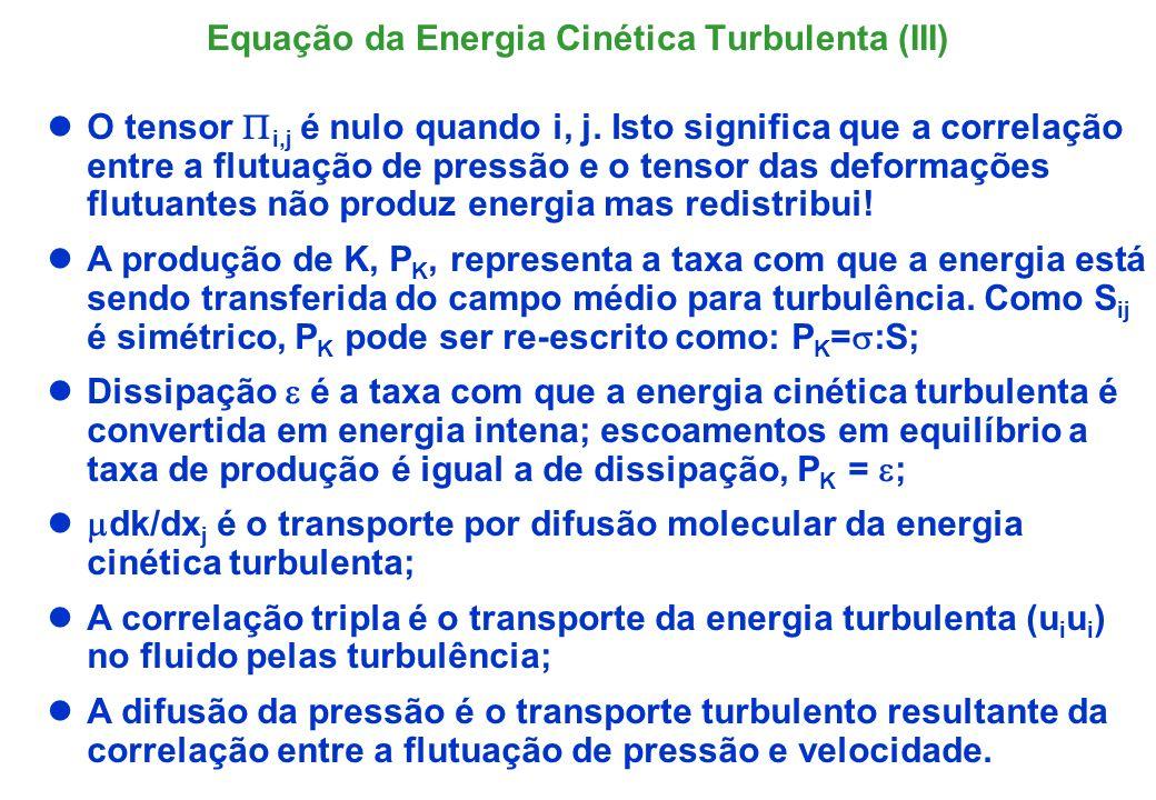 Equação da Energia Cinética Turbulenta (III)