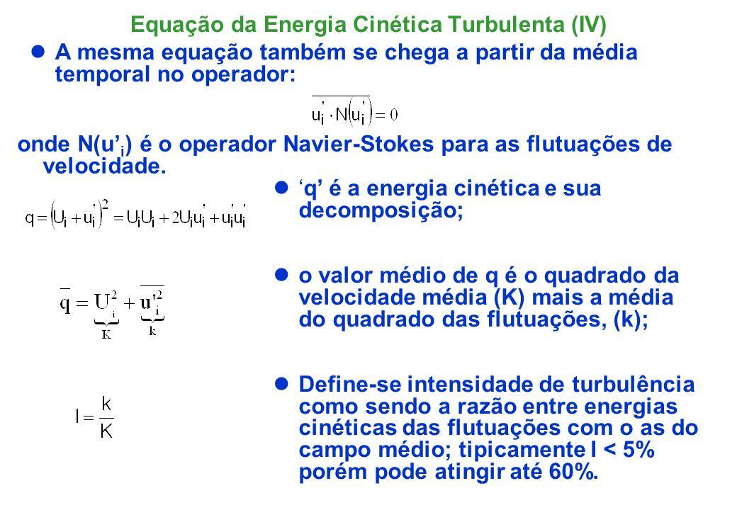 Equação da Energia Cinética Turbulenta (IV)