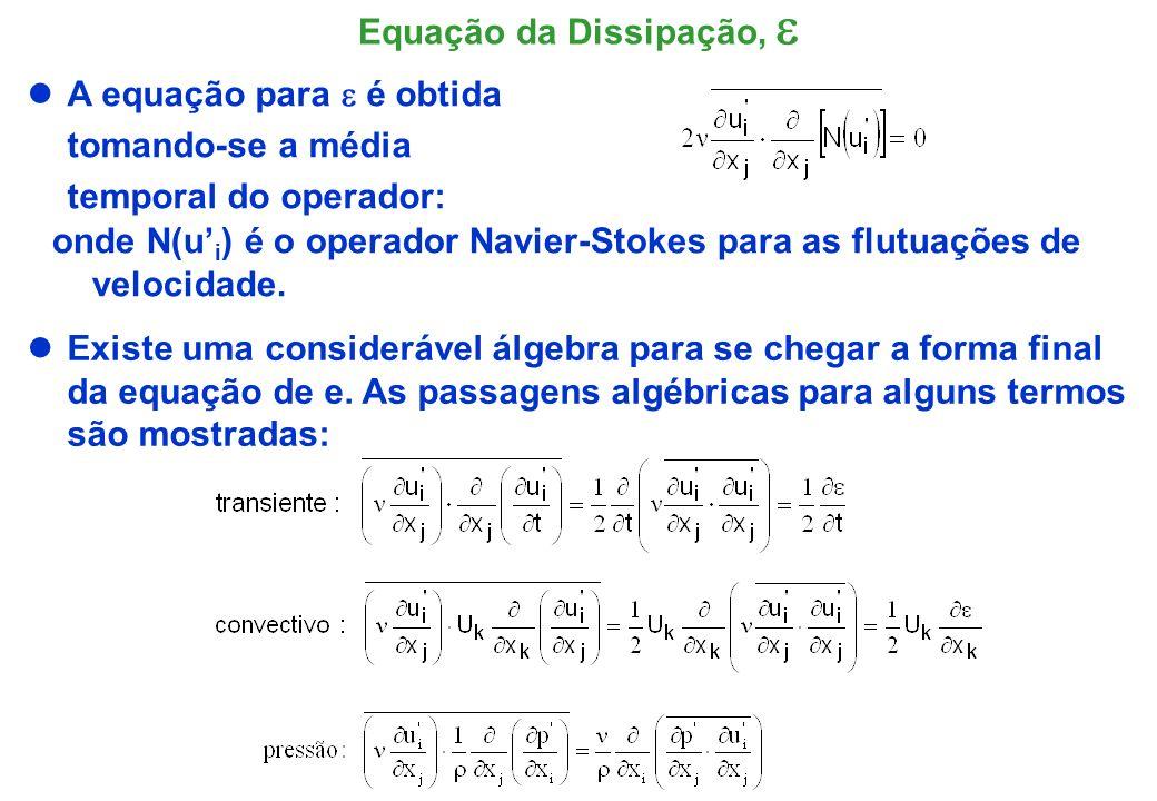 Equação da Dissipação, e