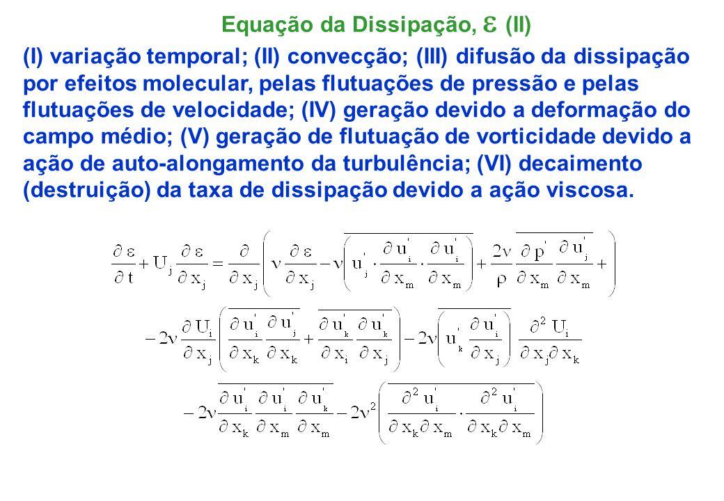 Equação da Dissipação, e (II)