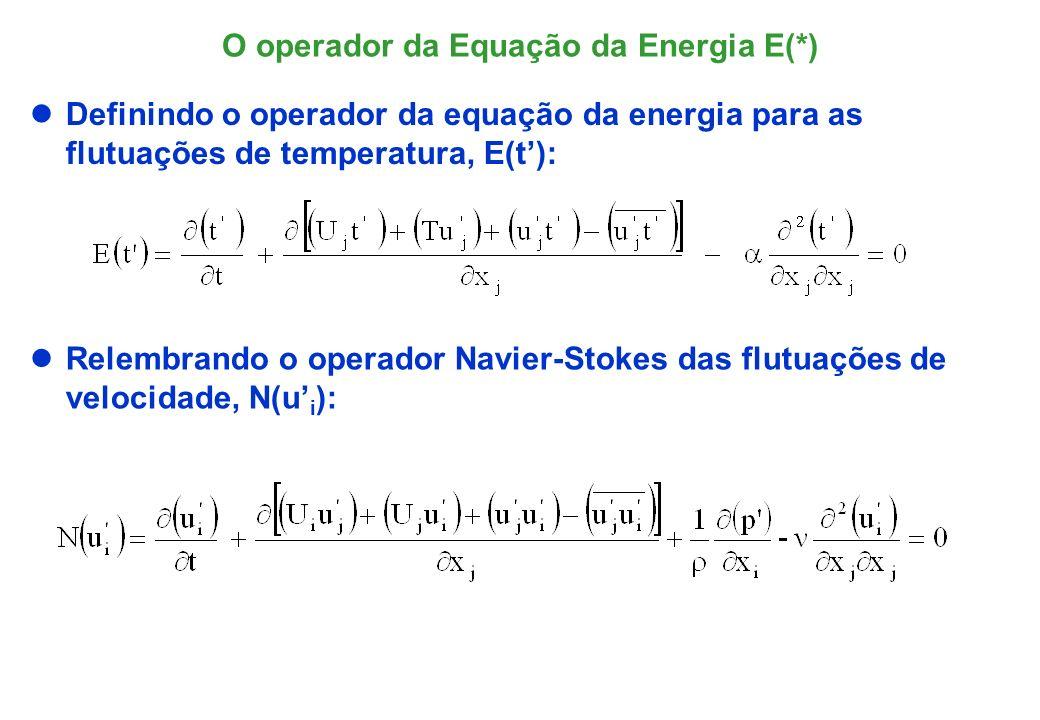 O operador da Equação da Energia E(*)
