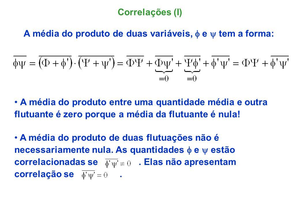 A média do produto de duas variáveis, f e y tem a forma: