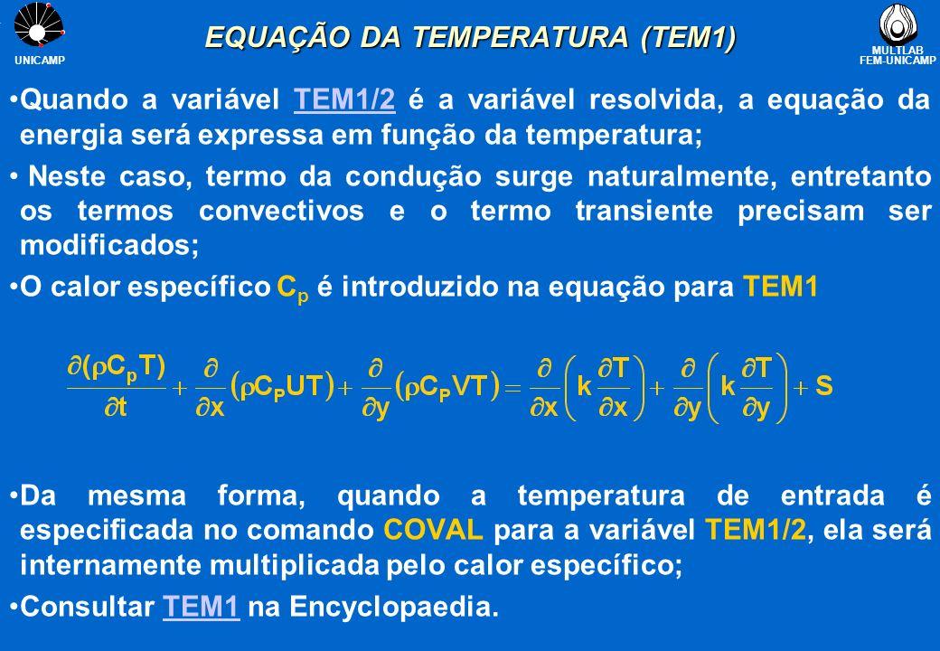 EQUAÇÃO DA TEMPERATURA (TEM1)