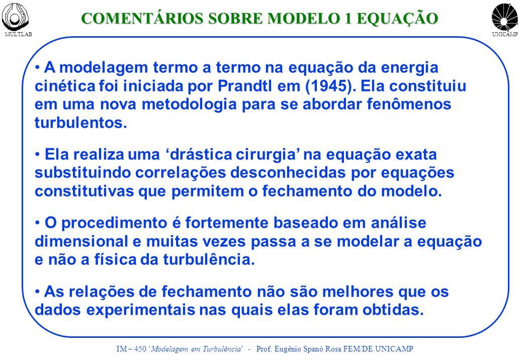 COMENTÁRIOS SOBRE MODELO 1 EQUAÇÃO