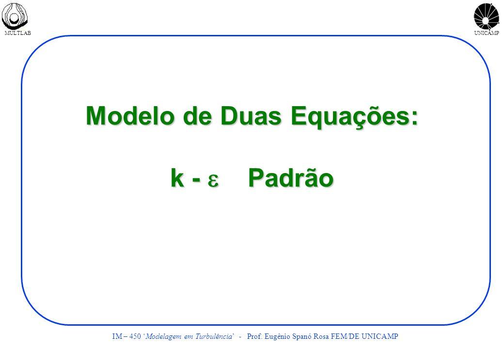 Modelo de Duas Equações: k - e Padrão