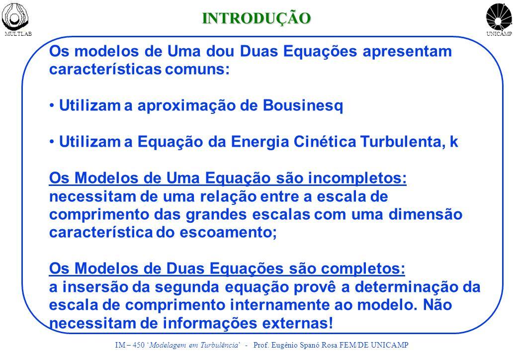 Os modelos de Uma dou Duas Equações apresentam características comuns: