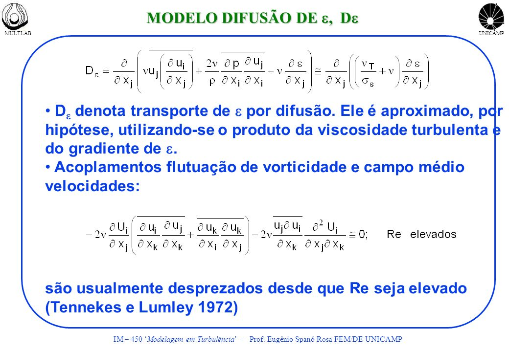 Acoplamentos flutuação de vorticidade e campo médio velocidades: