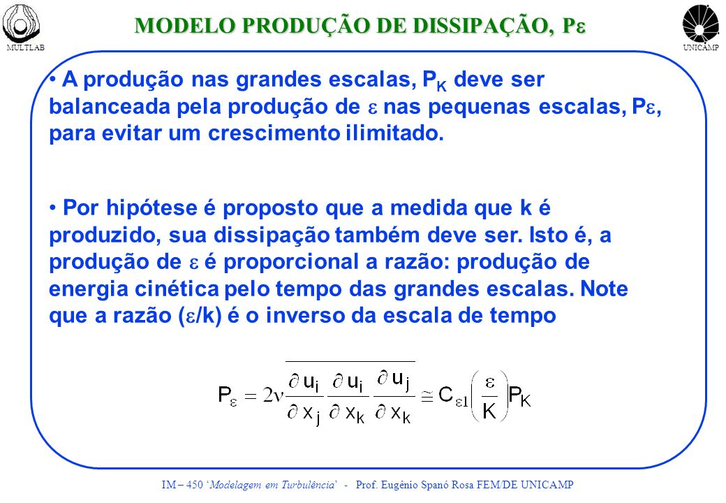 MODELO PRODUÇÃO DE DISSIPAÇÃO, Pe