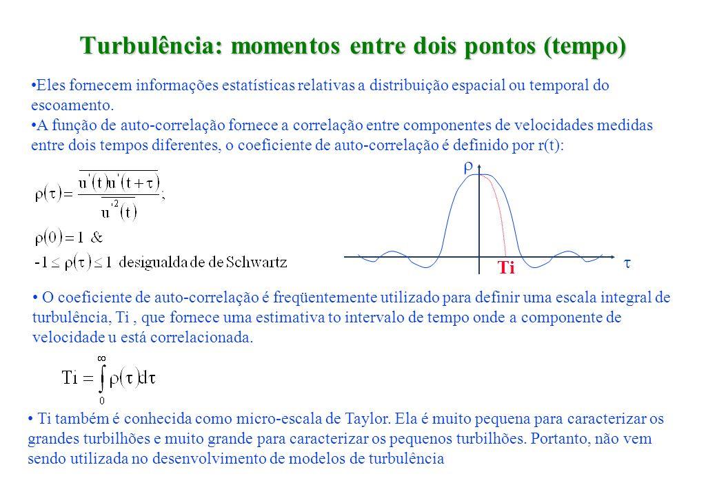 Turbulência: momentos entre dois pontos (tempo)
