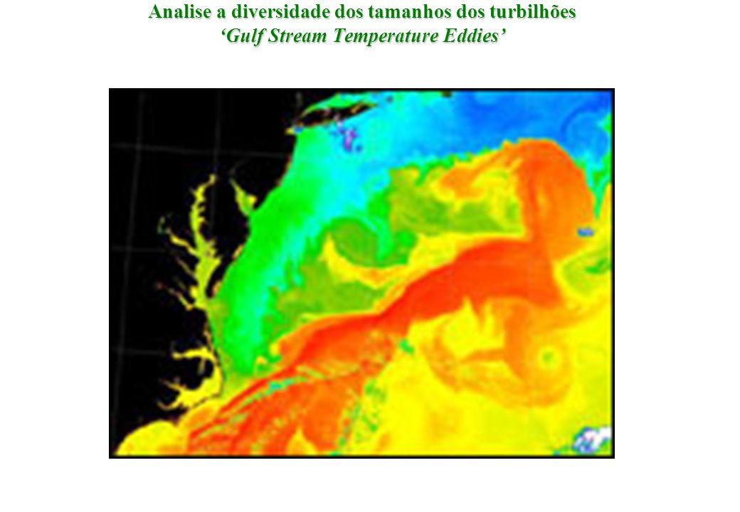 Analise a diversidade dos tamanhos dos turbilhões 'Gulf Stream Temperature Eddies'