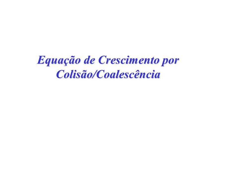 Equação de Crescimento por Colisão/Coalescência