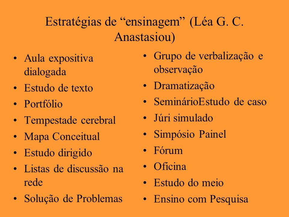 Estratégias de ensinagem (Léa G. C. Anastasiou)