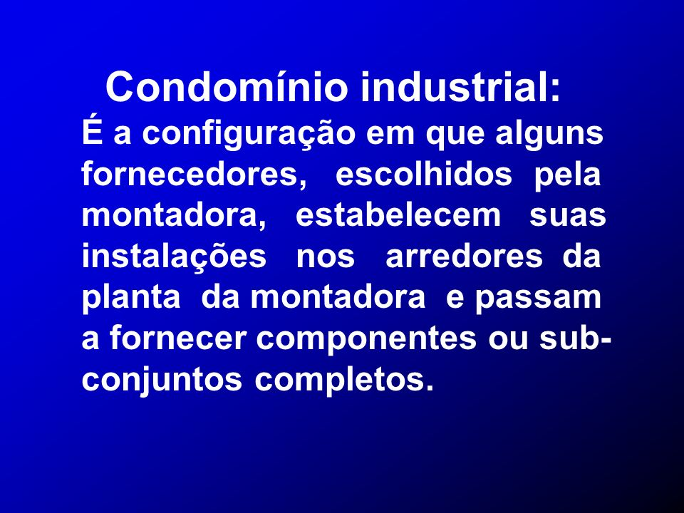 Condomínio industrial: