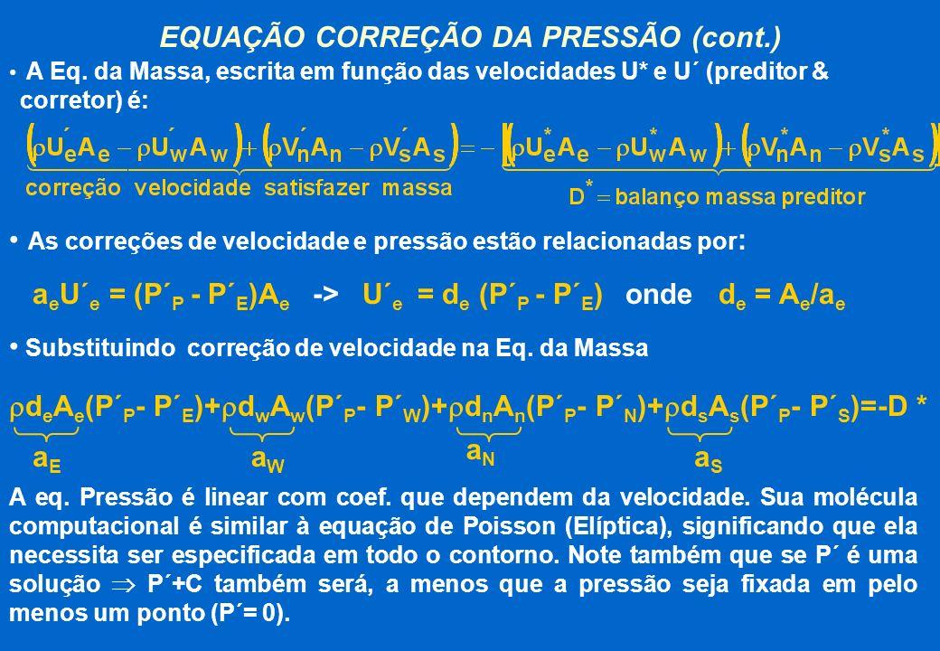 EQUAÇÃO CORREÇÃO DA PRESSÃO (cont.)