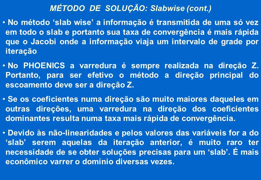 MÉTODO DE SOLUÇÃO: Slabwise (cont.)