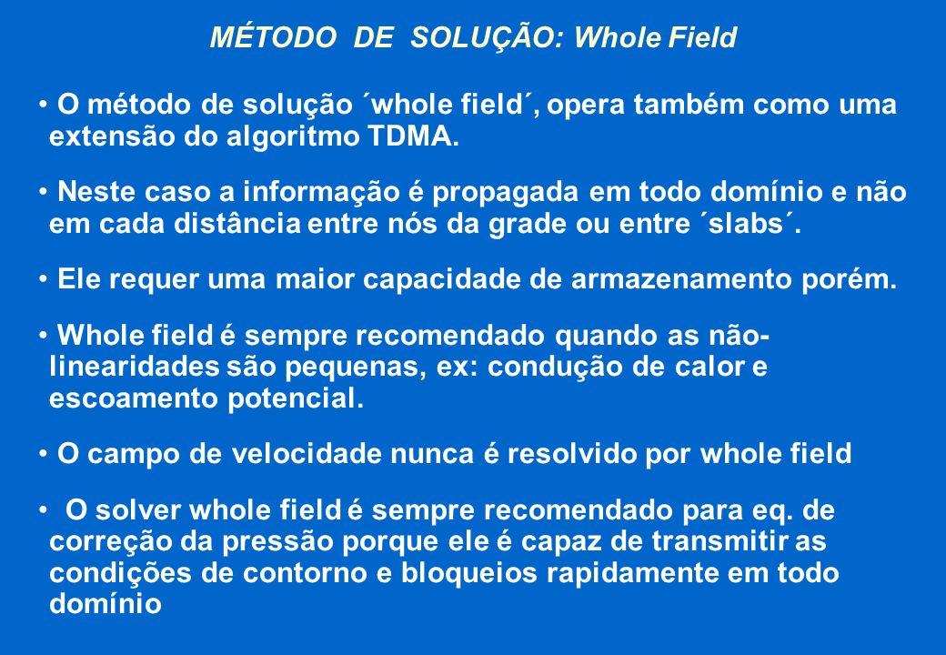 MÉTODO DE SOLUÇÃO: Whole Field