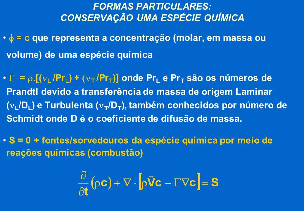 FORMAS PARTICULARES: CONSERVAÇÃO UMA ESPÉCIE QUÍMICA